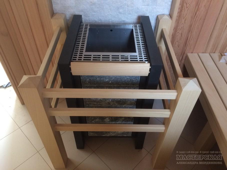 Деревянное ограждение электропечи из абаши