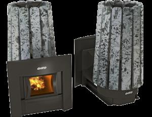 Печь для бани Grill'D Cometa Vega 180 Window Stone (Серпентинит)