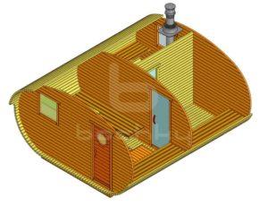 Баня-овалбочка 4×4.5