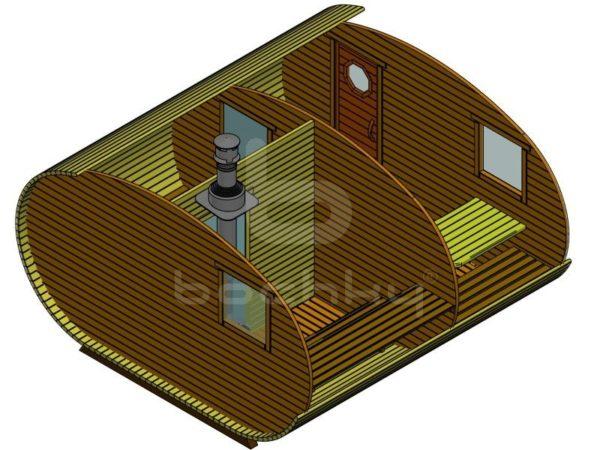 Баня-овалбочка 4×4