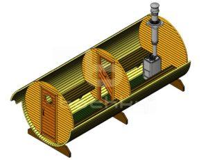 Баня-бочка Мега-2