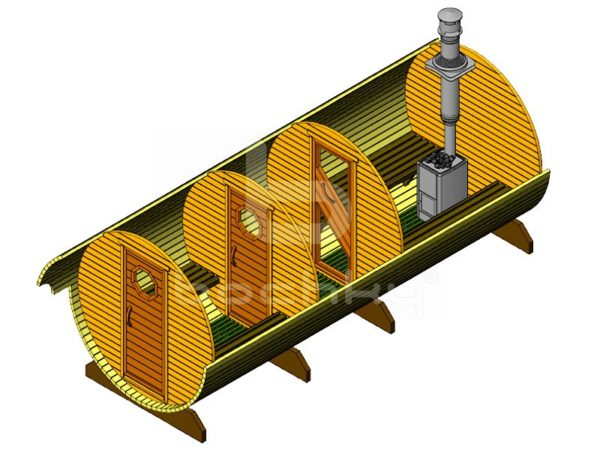 Баня-бочка «Мега-3