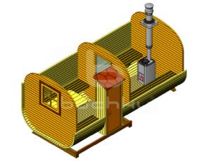 Баня-квадробочка Мега-2-СВ