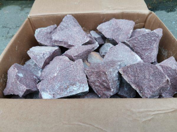 Камни для печей Talkberg малиновый кварцит