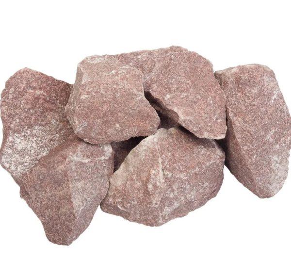 Камни для печей Talkberg Кварцит малиновый 20 кг