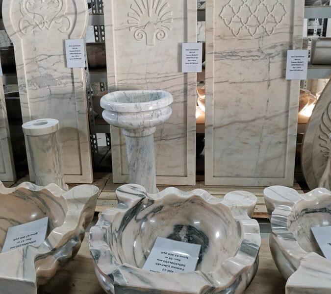 Новый ассортимент изделий из мрамора для хамама